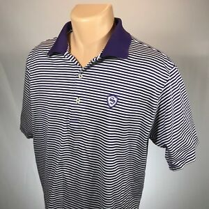 Peter-Millar-L-Polo-Mens-Shirt-Size-Large-Short-Sleeve-Blue-White-Striped