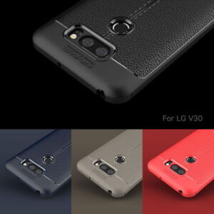 For-LG-V30-G6-Q6-Plus-Shockproof-Leather-Skin-Soft-Rubber-TPU-Phone-Case-Cover