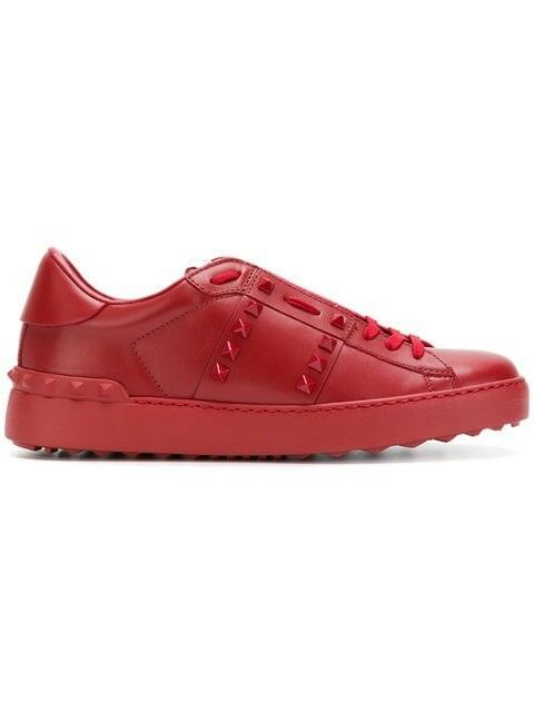 VALENTINO Untitled Open Turnschuhe rot 38 New