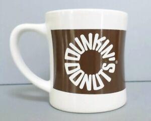 Dunkin Donuts Diner Mug 2010 Brown Circle Logo Coffee Cup ...
