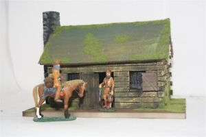 Old-West-3053-Fort-Cumberland-kleines-Blockhaus-Wild-West-zu-7cm-Sammelfiguren