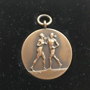 Antique Military Boxing  Medal   1935