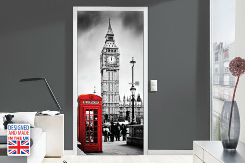 Walplus London Door Mural Sticker Europe Size 90Cm X 200Cm Home Decorations