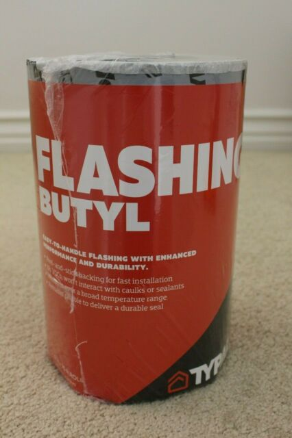 Typar Flashing BUTYL 6 in x 75 ft roll NEW in Wrapper MADE in USA