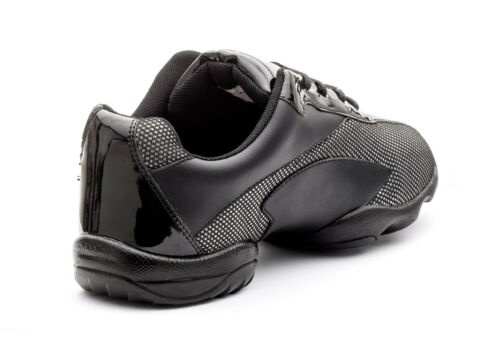 Argent Entraînement Et Baskets Divisée Semelle Chaussures Danse Noir Brillant Pa7q6O