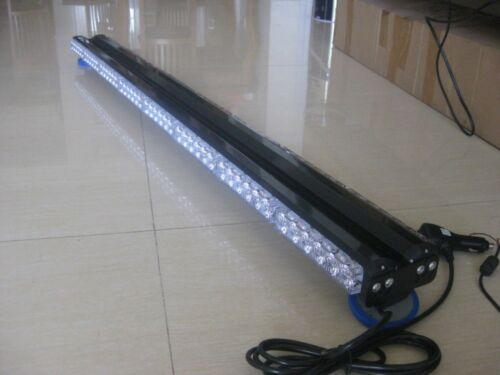 "47/"" 96LED 288W Emergency Hazard Warning Double Side Strobe Light Bar Amber White"