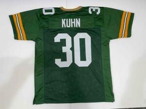 John Kuhn Jersey Green Custom Unsigned Stitched Green Bay Jersey ...