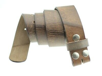 Echt Ledergürtel 4 Cm Ohne Schnalle Wechselgürtel Gürtel Damen Herren Neu Lg27 Up-To-Date-Styling