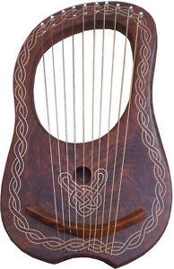 NUEVO-lira-arpa-madera-Sheesham-10-Metal-Cuerdas-10-GRATIS-FUNDA-llave