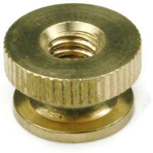 Brass Solid Knurled Thumb Nut UNC #12-24 Qty 25