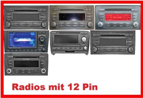 YT-BTA Bluetooth AUX MP3 Adapter passend für AUDI 12Pin Concert Chorus Symphony