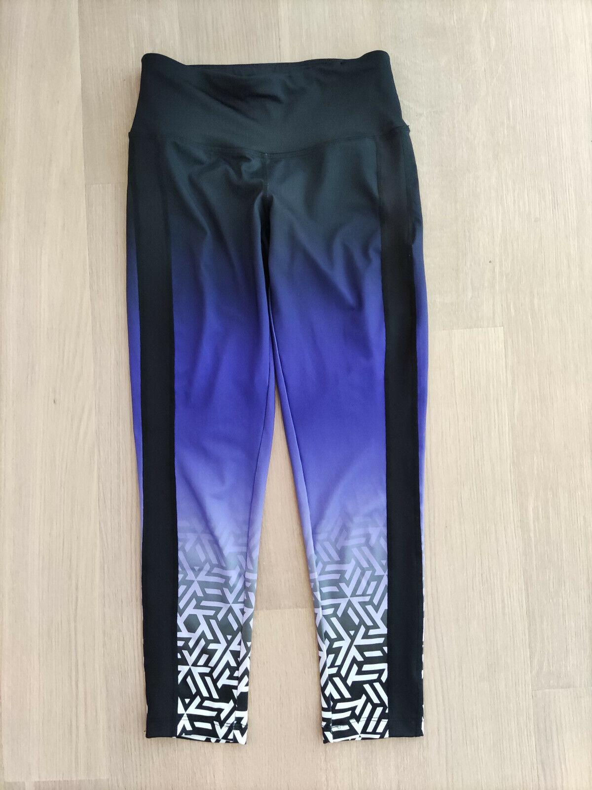 Sporthgose Leggings Fitnesshose Gr. XS ESmara schwarz-weiß-Verlauf, TOP Zustand