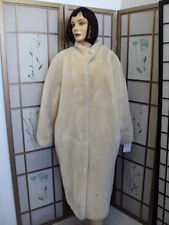 MINT OFF WHITE FAUX FAKE IMITATION OF FUR COAT JACKET WOMEN SZ 14-16 XXLARGE