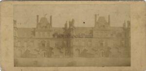 Château Da Fontainebleau Scalinata Francia Foto Stereo Vintage Albumina Ca 1865