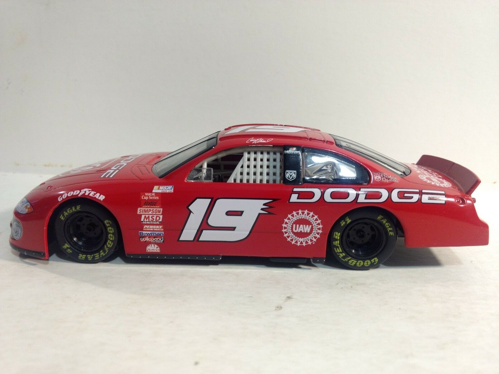 Nascar Casey Atwood UAW Dodge In A Red 1 24 Scale Diecast Hasbro 2001 dc2047