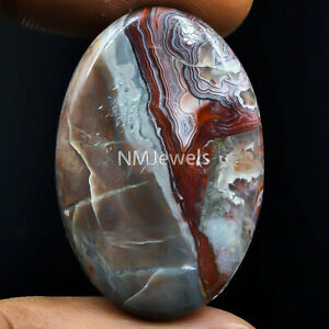 Cts-54-80-Natural-Laguna-Lace-Agate-Cabochon-Oval-Cab-Exclusive-Loose-Gemstone