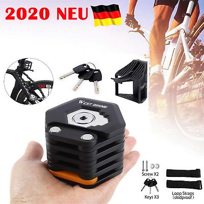 DE Faltschloss-Fahrrad mit Halterung 3x Schlüssel Hohe Sicherheitsstufe 15 DHL