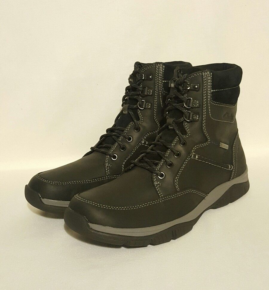 NEW CLARKS RAMPART WALKING UP GTX GORE-TEX WATERPROOF BLACK LEATHER WALKING RAMPART BOOTS MENS d4c897