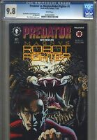 Predator vs. Magnus Robot Fighter #1 CGC 9.8 (1992) Dark Horse Valiant Highest