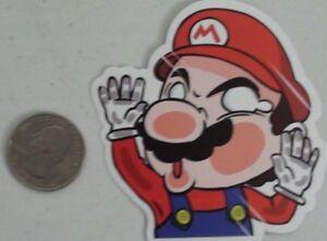 Super mario bros sticker funny skate skateboard cell laptop bumper ... c02e89e96b6