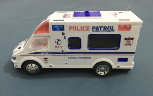RC Police Radio  Control Van Police Mobile Rescue Team Kids Playing Toy