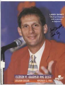 Sports Mem, Cards & Fan Shop Larry Shyatt Signed 8.5 X 11 Photo College Ncaa Basketball Coach Autographed A Plastic Case Is Compartmentalized For Safe Storage College-ncaa