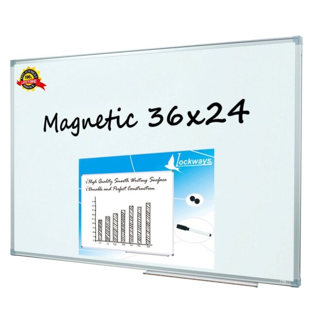 Lockways Magnetic Dry Erase Board Whiteboard White 36 X 24 Inch 3 2 ...