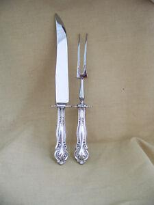 "Set of  4  Vintage Rogers /"" Rosalie /"" Hollow Handle Dinner//Place Knives  8 7//8/"""