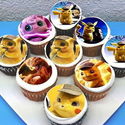 "Pokemon Edible Icing Cupcake Toppers 2/"" PRE-CUT Sheet of 15"