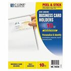 Self Adhesive Business Card Holders Side Load 3 1 2 X 2 Clear 10 Pack