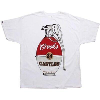Activewear Ingenious Crooks And Castles War Halls Grenade White T Shirt 840718wht