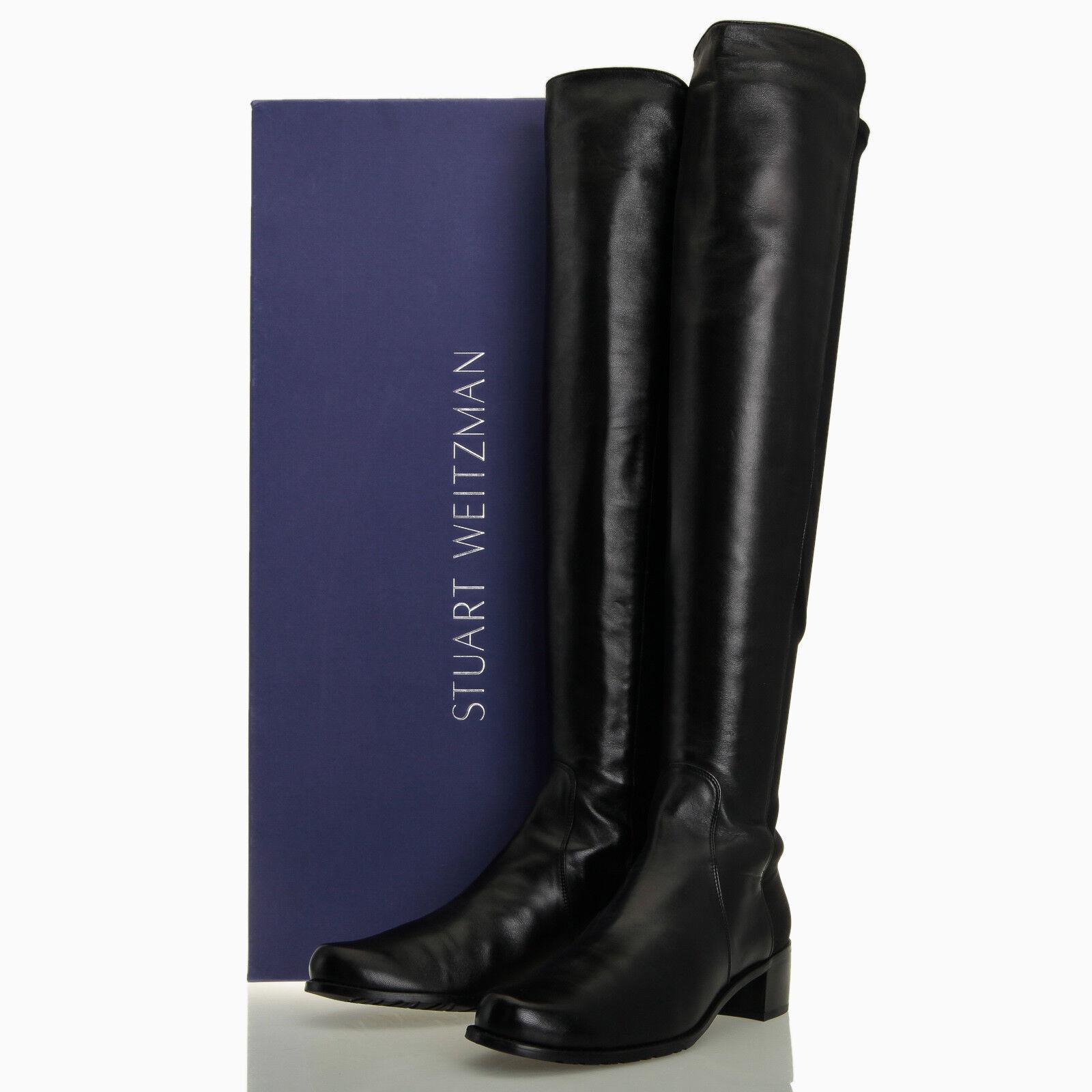 Stuart Weitzman Reserve Negro Napa encima de la rodilla botas-Para botas-Para botas-Para Mujer 10.5 M  el estilo clásico