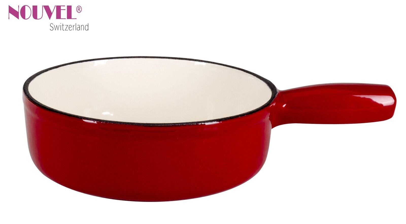 Käsefondue-Caquelon Nouvel Swiss   Gastro 22 cm   Gusseisen rot  Induktion | Online-Exportgeschäft