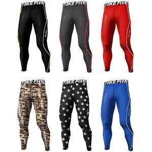 Takefive-New-Men-s-Compression-Pants-Capri-Skin-tights-Sportswear-Under-layer