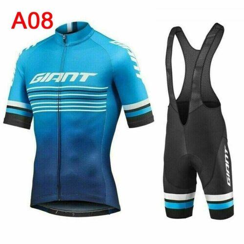 2019 New Men Sports Tops Cycling Short Sleeve Jersey Mtb Bike Bib Shorts set A06