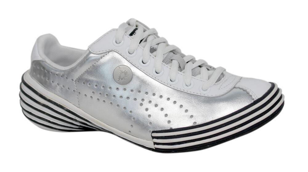 Puma Mihara Yasuhiro My 36 Herren silber weiß Leder Schnürschuhe