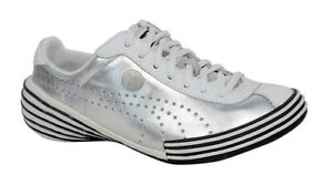 Puma Mihara Yasuhiro My 36 Mens Silver White Leather Lace Up ... 55109f23e