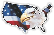 USA EAGLE new STICKER America UNITED STATES MAP FLAG BUMPER VINYL DECAL PATRIOT