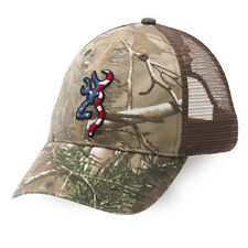 a795258673f Browning Head Gear Baseball Caps Hat Denim Desert Camo Hunting Patriot Snow  Mesh