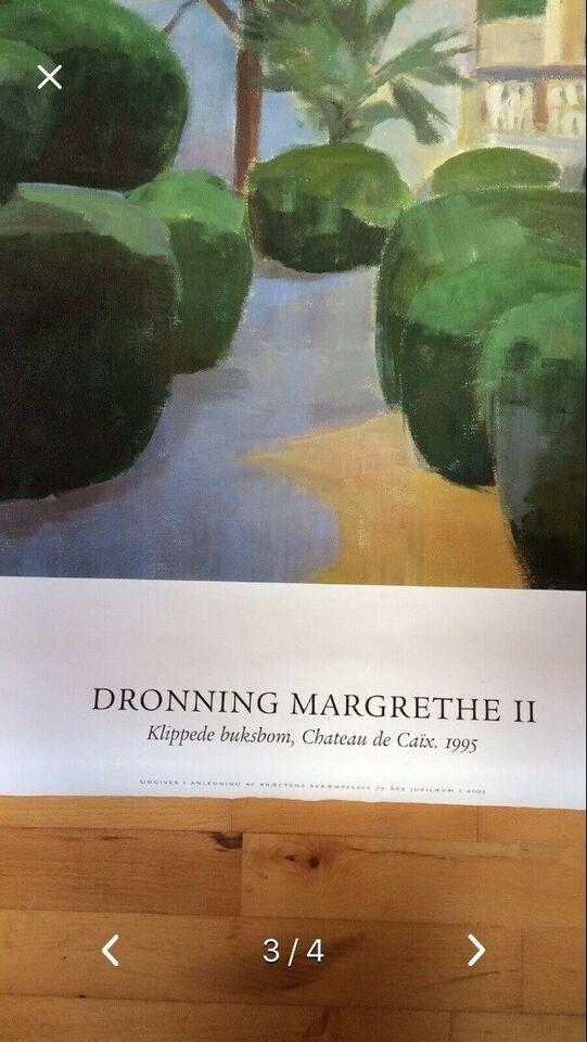 Plakat, Dronning Margrethe ll, motiv: Klippede buksbom