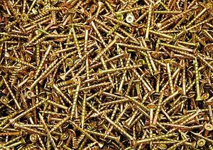 700-Torx-T20-Star-Flat-Head-8-x-1-5-8-Yellow-Zinc-Type-17-Outdoor-Wood-Screw