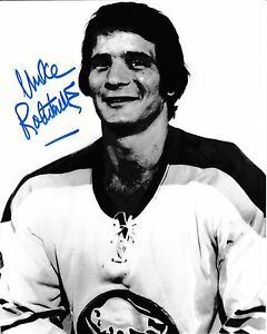 Signed  8x10 MIKE ROBITAILLE  Buffalo Sabres  Photo - COA