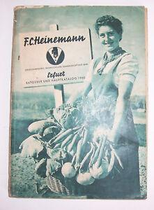 Das Bild Wird Geladen Katalog F C Heinemann Erfurt 1940 Saatgut Pflanzen  Gemuese