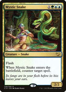 English Mystic Snake x4 Commander 2015 Commander 2015 NM-Mint