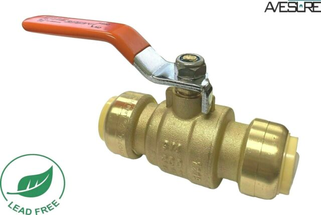 "LEAD FREE BRASS 20 PIECE 3//4/"" SHARKBITE STYLE PUSH FIT BALL VALVE FULL PORT"