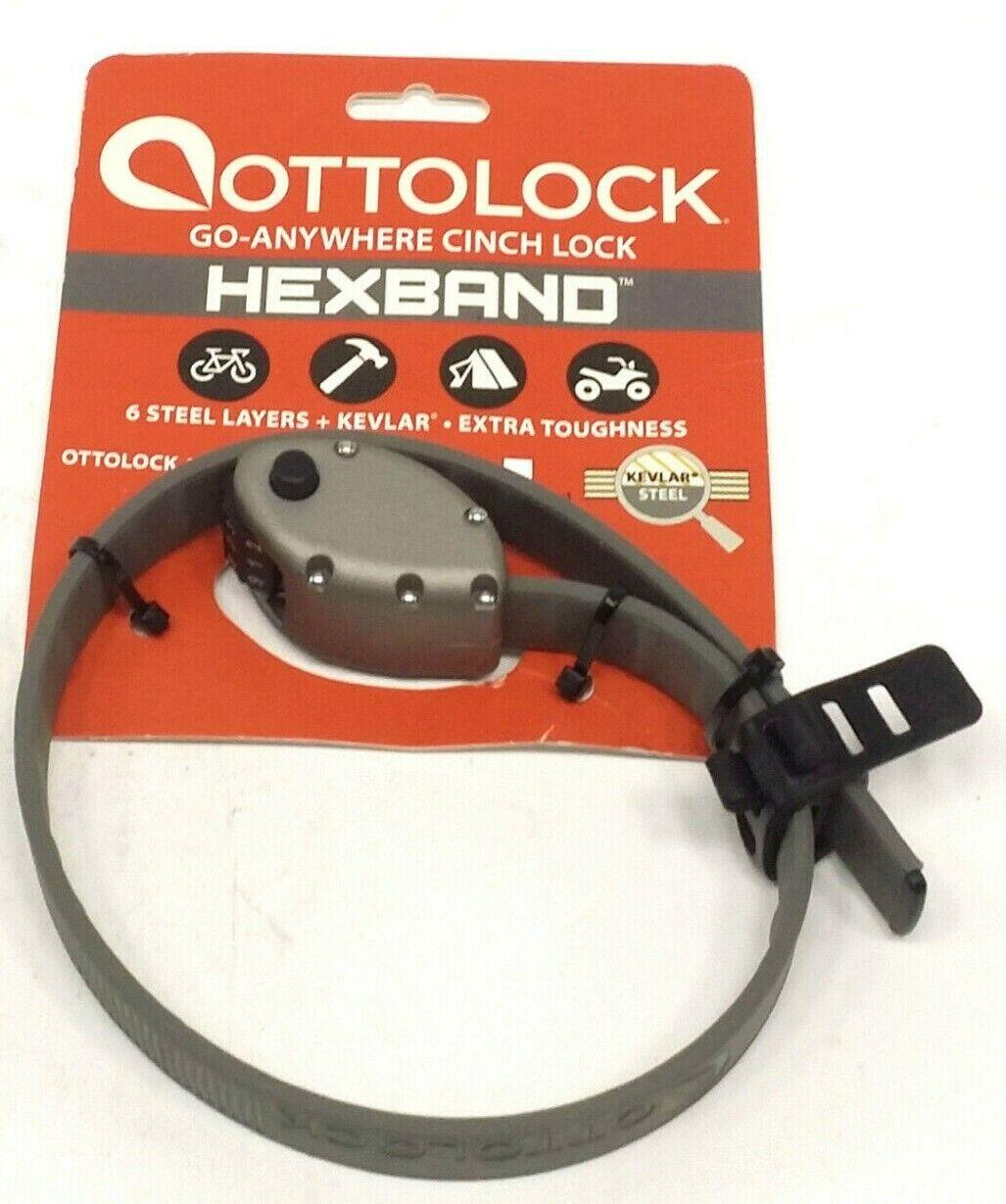 Steel Hexband Ti Grey or Cinch Camo 30 or 60 Combination Otto Lock With Kevlar