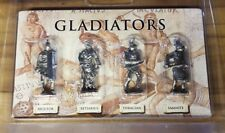 4 Gladiator Pewter Figures Imperial Roman Rome SPQR Ancient Legionary Colloseum