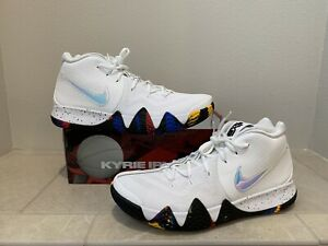 sports shoes bac6d 5a91a Details about Nike Kyrie 4 March Madness NCAA Tournament White/Multi Color  943806-104 Size 14