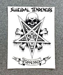 Suicidal Tendencies SUICIDAL SKATES Skateboard Sticker 6in black//white