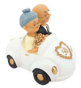 Details Zu Hochzeitspaar Gold Goldene Hochzeit Brautpaar Auto Groß 16 X 13 Cm Paar Spardose